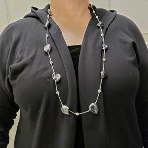 Jewelry - Metallic Grey Coated Mother of Pearl Necklace
